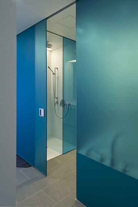 Glass type Blue Etch. Residential building in New York.  Where can i purchase this product? Visit www.roosintl.com