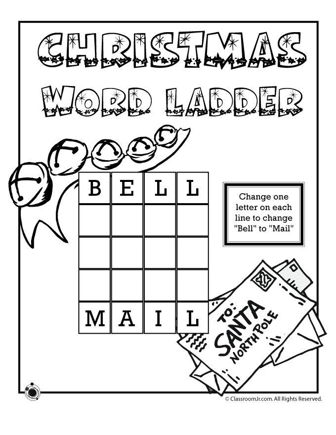 christmas word ladders christmas 3 letter word ladder