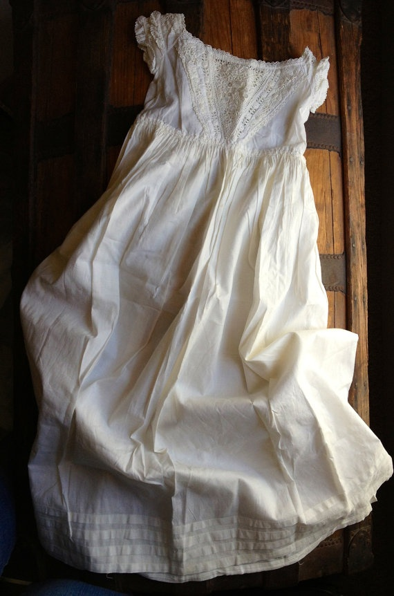 Antique Christening Gown by birdandbumble on Etsy, $195.00
