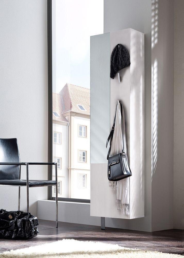 Schuhschrank Woody Weiß 6245. Buy now at https://www.moebel-wohnbar.de/schuhschrank-woody-mit-spiegel-garderobenpaneel-wildeiche-weiss-6245