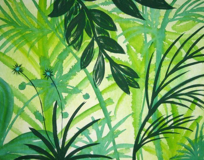 Dschungel in Grün