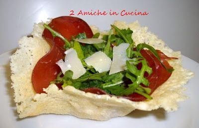 Cestini di Parmigiano Bresaola e Rucola | 2 Amiche in Cucina