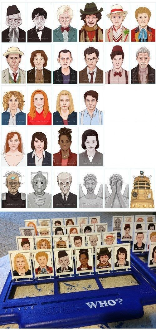 Turn 'Guess Who?' into 'Guess Doctor Who?' - love this!!!
