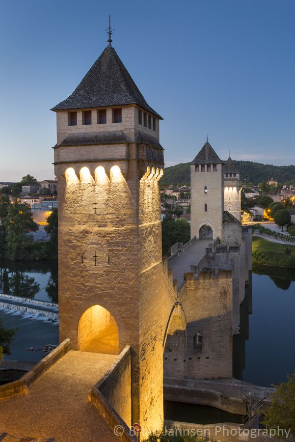 Pont Valentre and River Lot in Cahors, France.  © Brian Jannsen Photography