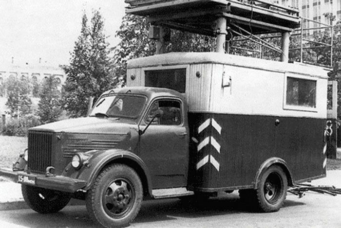 Автовышка Сокольнического вагонного зхавода (СВАРЗ) на шасси ГАЗ-51А