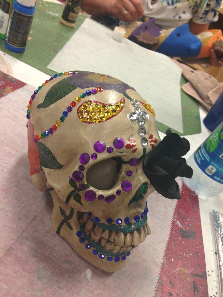 1st sugar skull I made.