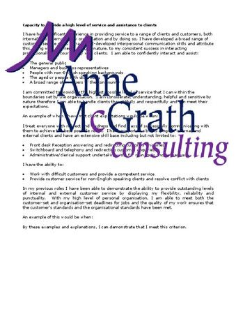 Admin - Capacity to provide a high level of service and assistance to – Professional Resumes @ Anne McGrath Consulting