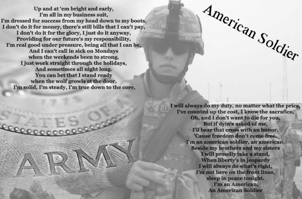Song analysis american soldier