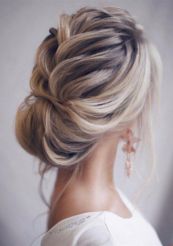 updo elegant wedding hairstyles for long hair #elegantweddings