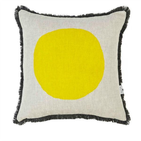 Yellow dot #cushion