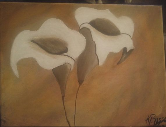 lilies by melacrylics on Etsy