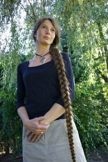knee length braid beautiful long