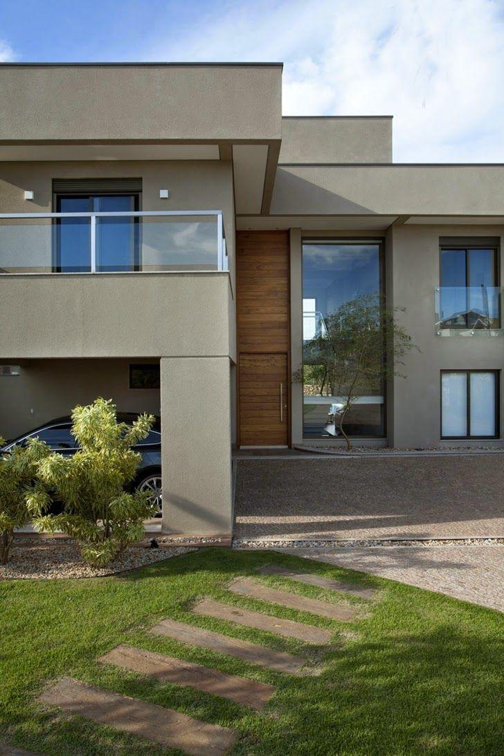 Casa brasileira com arquitetura e decoração moderna – linda!   – Casa conceito aberto