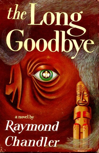 tiki book cover illustration for Raymond Chandler's The Long Goodbye