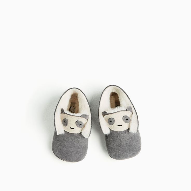 MINI LEATHER BOOTIES WITH PANDA DETAIL-NEW IN-MINI | 0-12 months-KIDS | ZARA United States
