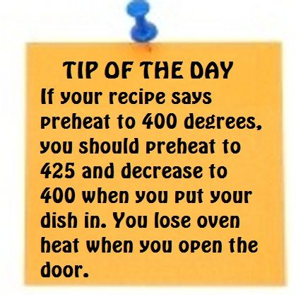 Tip of the Day - Preheating Your Oven the Right Way