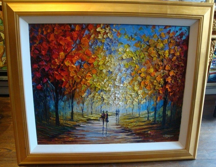We own a similar original painting by Slava Ilyayev ...