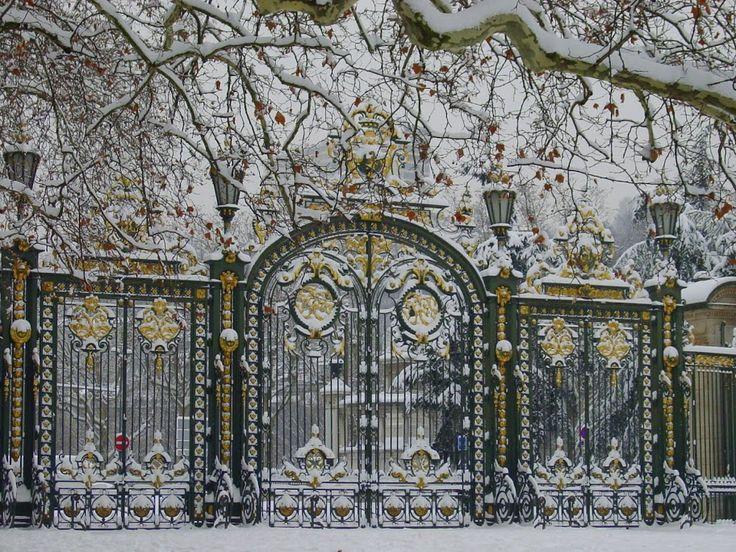 Lyon - Neige sur le Parc de la Tête d'Or