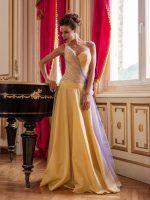 Sárga báli ruha, yellow evening dress.