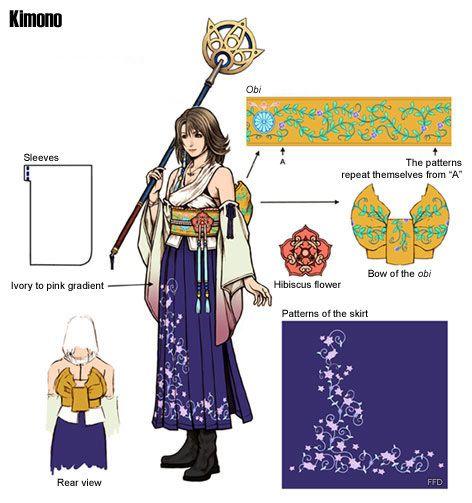 Yuna concept art / dress pattern
