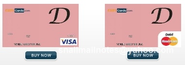 Initialed debit card. Visa or Mastercard gift card in any $ amount can be personalized by you. Design by Paula Parks Fulford, aka SnailMailNotes & LoneStarLifer.