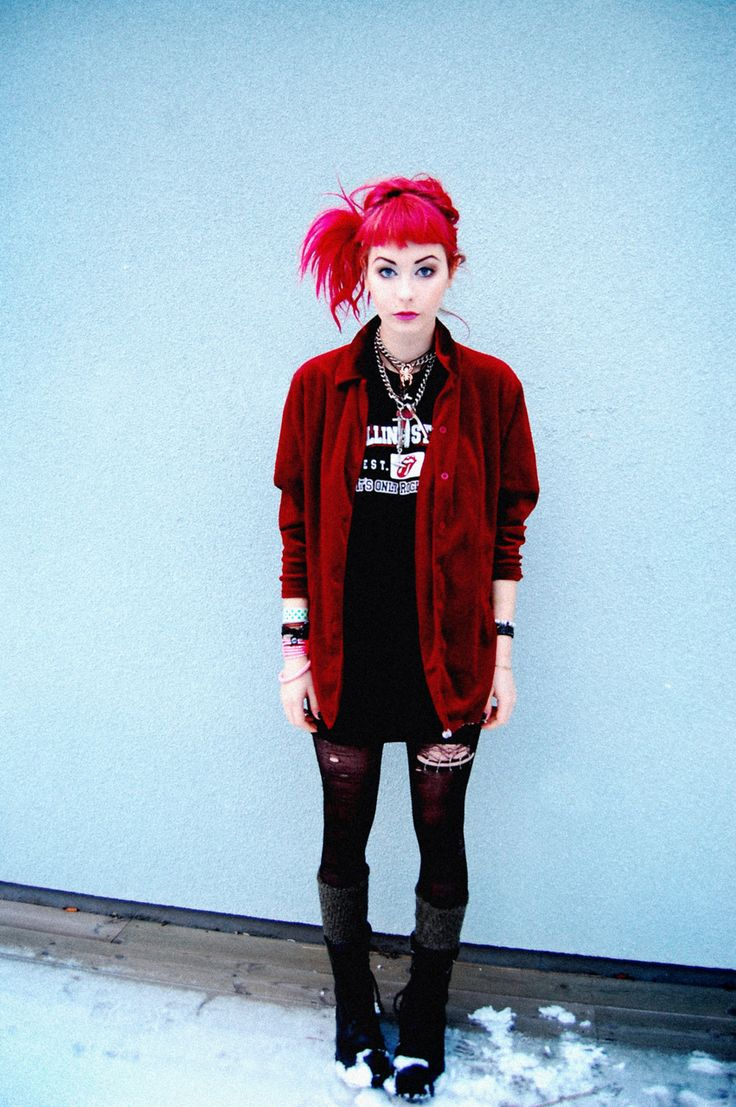 Red jacket and Red Hair #NitroFashion