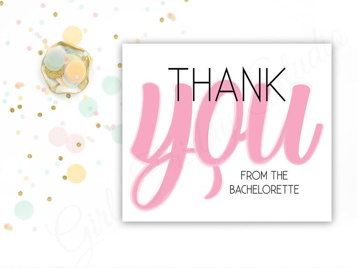 Bachelorette Thank You Note, From the Bachelorette Card, Bride to Be Thank You Cards, Party, Invites, Bach Party - Thank You - #GFS00056 by GirlFridayStudio on Etsy