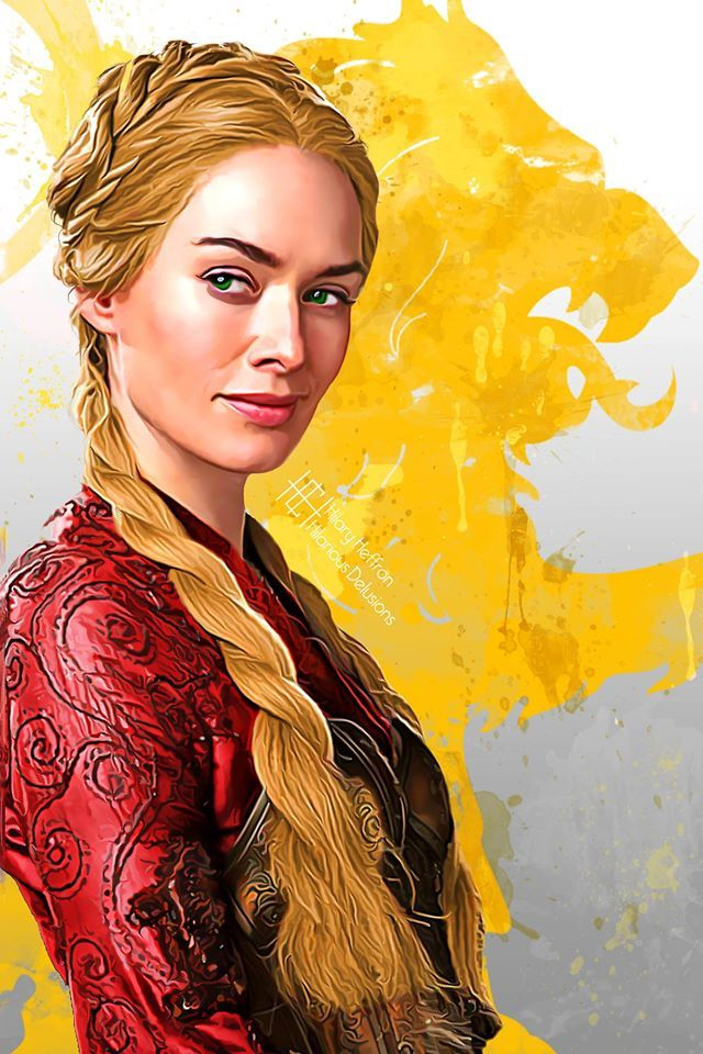 Cersei Lannister ~ House Lannister Sigil | Game of Thrones - by Hilary Heffron…