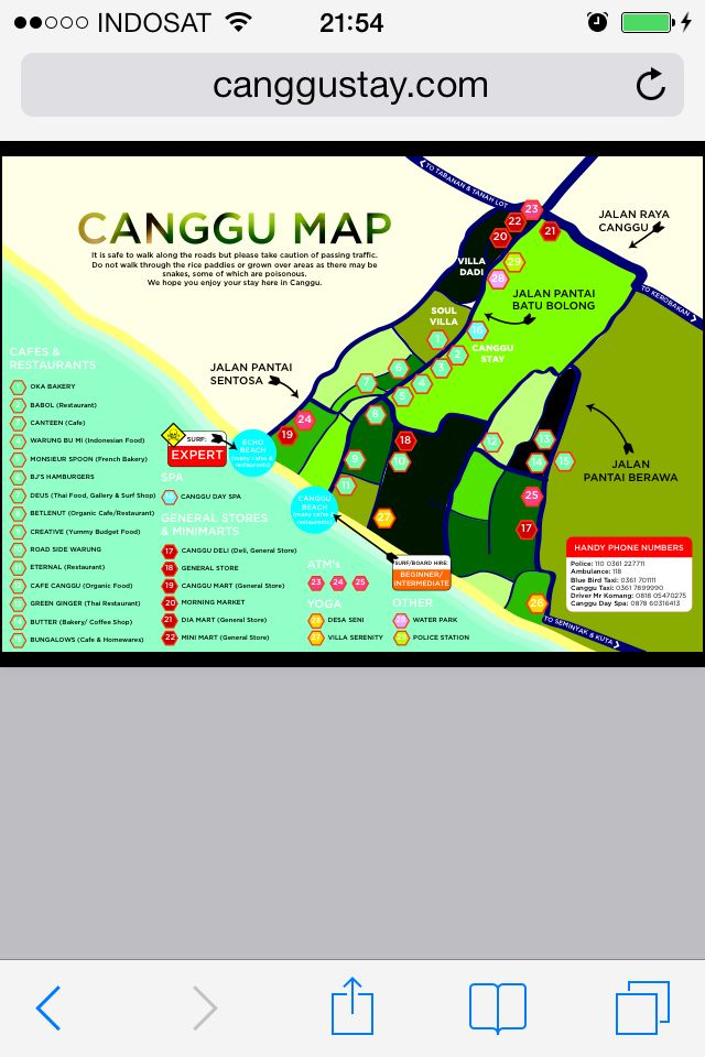 Handy Canggu map