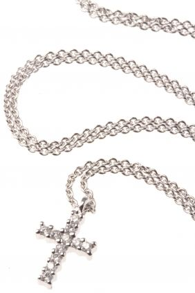 http://www.newone-shop.com/Most-Wanted/Symbolschmuck/Kreuz/weissgold-kette-diamant-kreuz.html