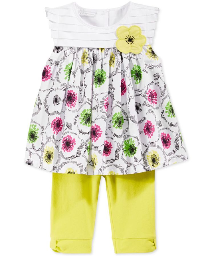 First Impressions Baby Girls' 2-Piece Tunic & Yellow Leggings Set, Only at Macy's