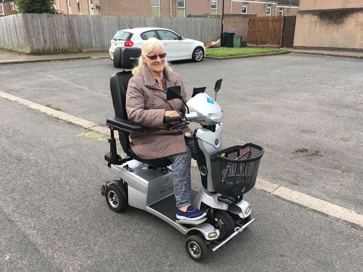Mrs Rocke is all smiles on her Vitess 2 mobility scooter get your demo here http://contact.quingoscooters.com/social-mobility-scooters