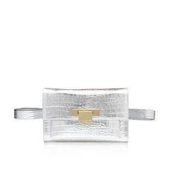 Croc Annie Belted Bag Silver Belted Bag from Kurt Geiger London