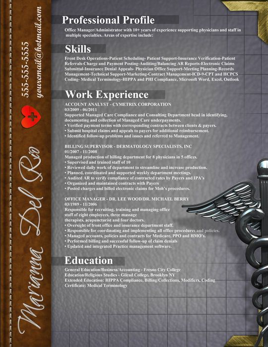 21 best HCA images on Pinterest   Gym  Health department and     Medical resume layout idea