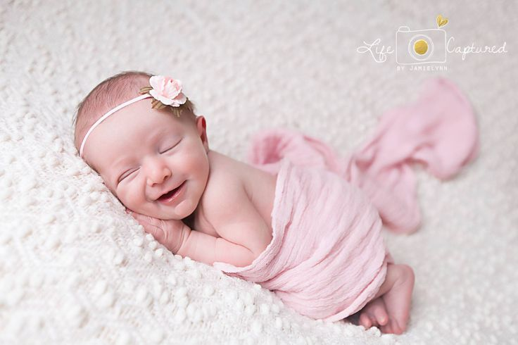 Photography headband delicate flower pink white newborn photo prop infant