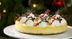 Mary Berry makes a delicious white chocolate and stem ginger cheesecake for the festive season on The Great British Bake Off Christmas Masterclass.