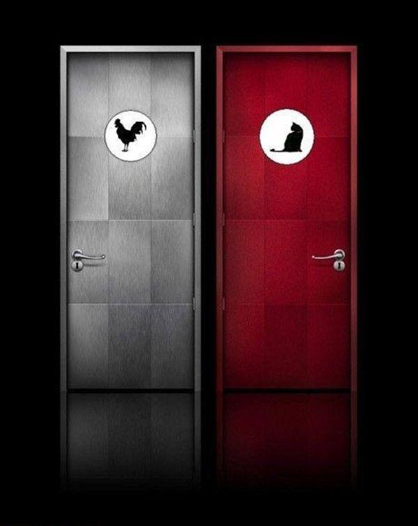 Most Creative u0026 Funny Toilet Signs | 1 Design Per Day. Bathroom  DoorsBathroom ...