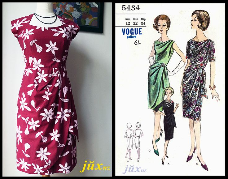 Frangipani print toilé of mash-up patterns - skirt = vintage Vogue 5434 (1960); bodice = Style 1751 (1990)