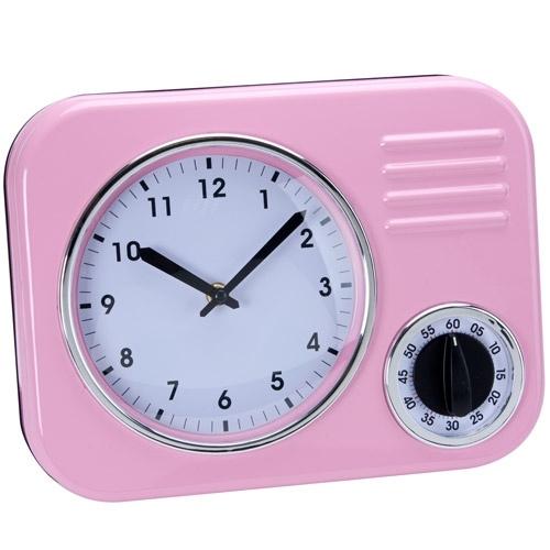 Fifties Forever konyhai óra rózsaszín
