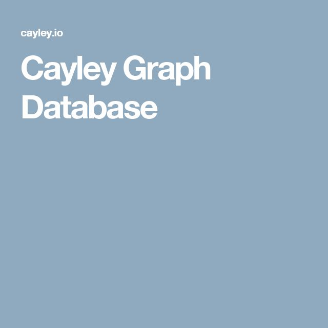 Cayley Graph Database