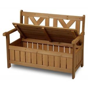 Panchina da giardino in legno a cassapanca per esterno