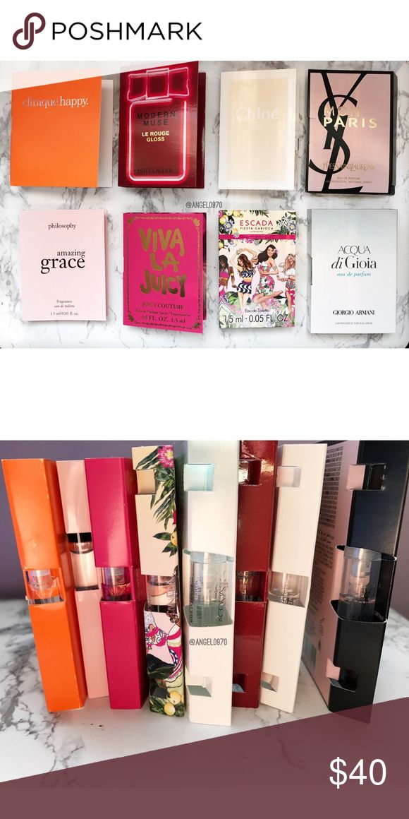 🆕 || Bundle Of Fragrance Samples Bundle of 8 brand new fragrance samples. Some of them look used but it never was (pictured).   🚫No Trades🚫🚫Please No Lowballing🚫  I do not negotiate pricing in the comments. Please submit a reasonable offer by the offer button. Thank you 😊 Juicy Couture Makeup