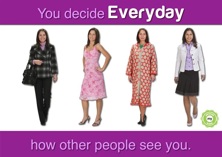 How are others see you. This is the same woman dressed in four different ways. What's the impression you get from each outfit choice?
