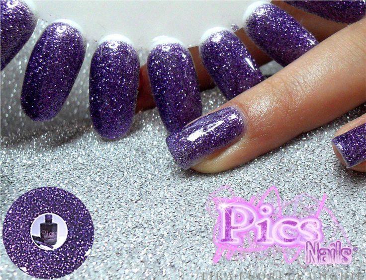 Smalto Semipermanente Glitter: la luminosità del Glitter e la femminilità del colore viola in questo prodotto professionale Pics Nails!