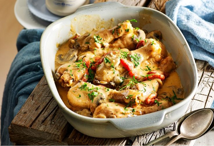 A rich creamy sauce, earthy mushrooms and only one pot to wash up - it's no wonder this chicken dish is always a family favourite
