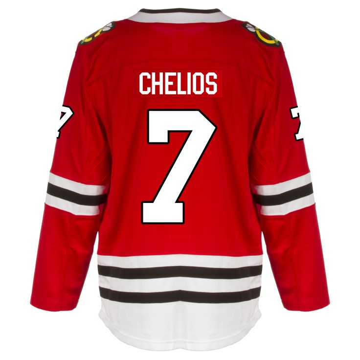 Chicago Blackhawks Adult Chris Chelios Premier Home Jersey by Fanatics #Chicago #ChicagoBlackhawks #Blackhawks #Chelios #ChrisChelios
