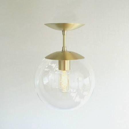 "mid century modern Semi Flush Clear "" Globe Pendant Light - The Orbiter 8 Semi Flush Pendant"