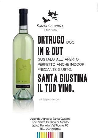 """L'Ortrugo """"frizzante giusto"""", da bere """"dentro e fuori"""", insomma """"In & Out"""" #vino #adv #marketing #design"""