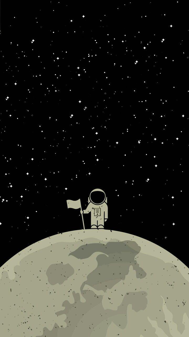 Cute Astronaut Latar Belakang Kertas Dinding Wallpaper Ponsel