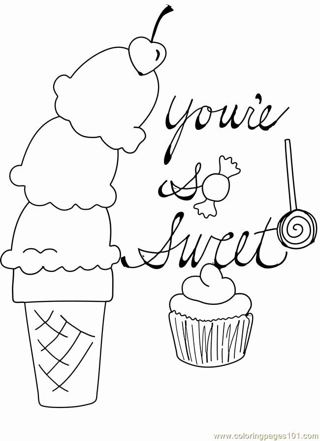 Ice Cream Coloring Pages Printable New Free Printable Ice Cream Coloring Pages For Kids Candy Coloring Pages Cupcake Coloring Pages Valentine Coloring Pages